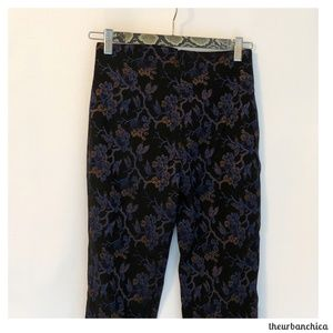 Parasuco Pants - Vintage PARASUCO Cocktail Dress Slim Flowered Pant